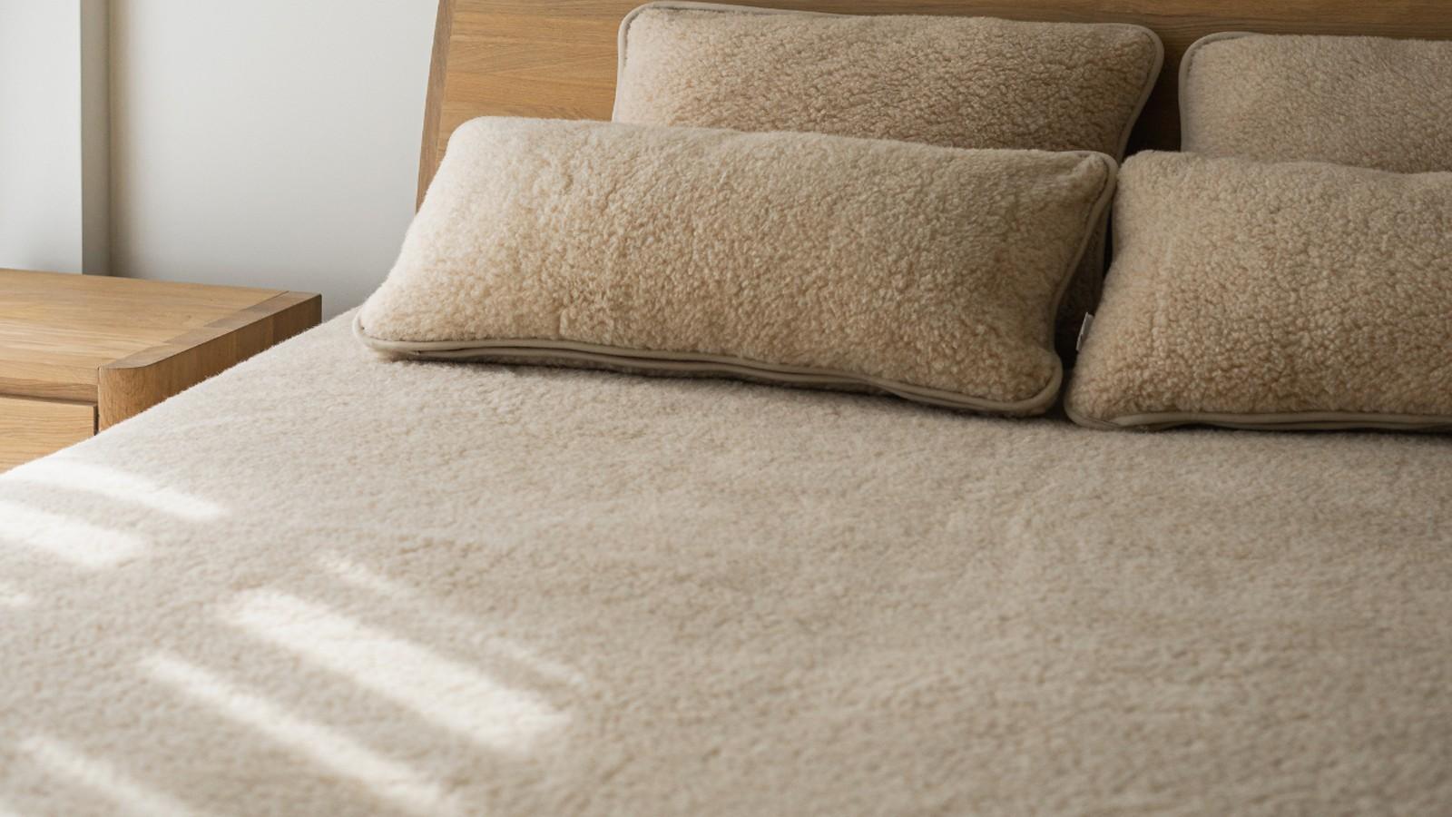 Pătură Almond N2 din lână, 135x200 cm