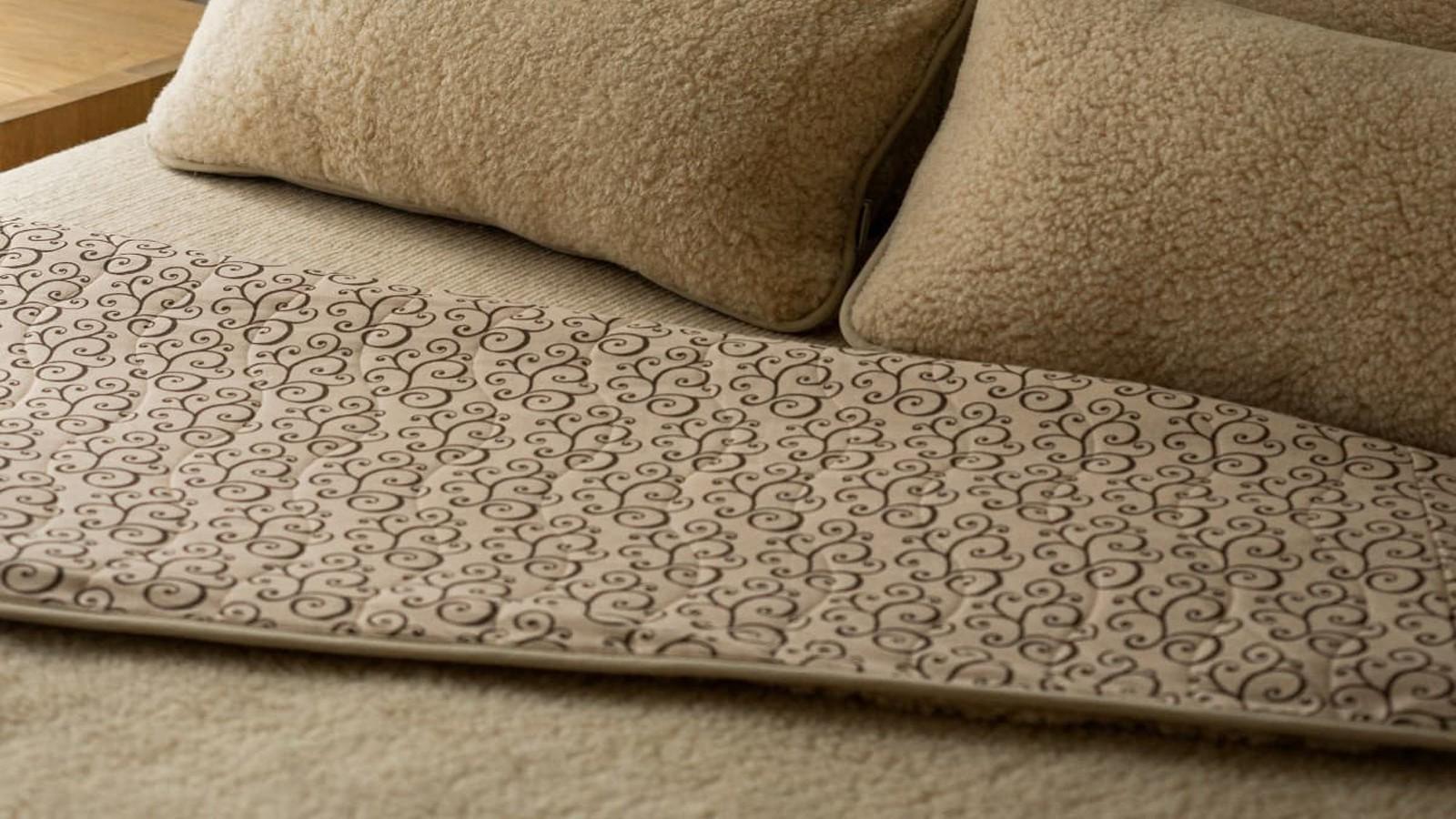 Pătură Chestnut N3 din lână și bumbac